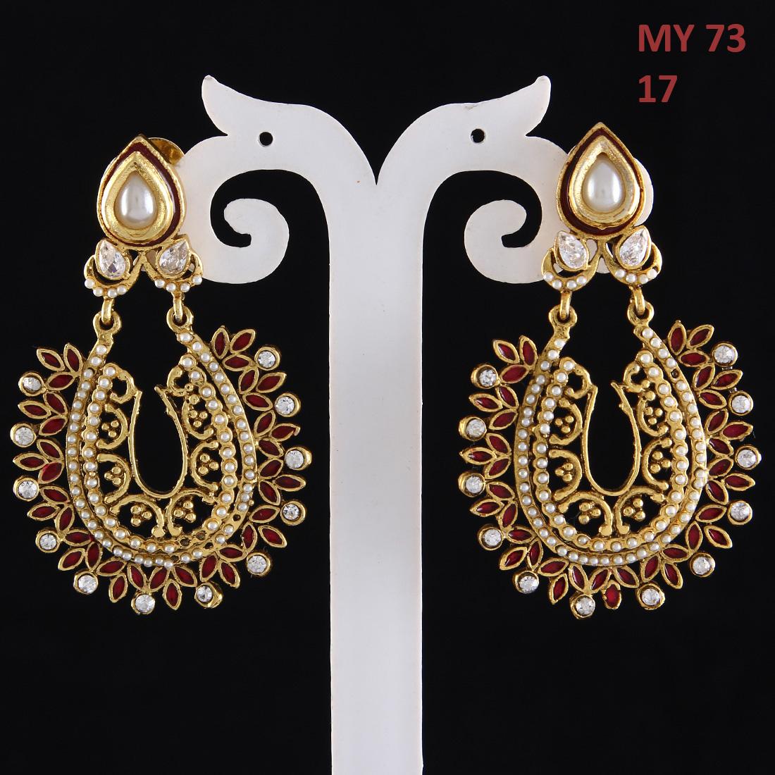 55Carat | Drop Dangle Earrings 18K Gold Plated Emerald, Ruby Emerald, Ruby Beautiful Drop Dangle Earrings 18K Gold Plated Emerald, Ruby for Girlfriend Wife Beautiful
