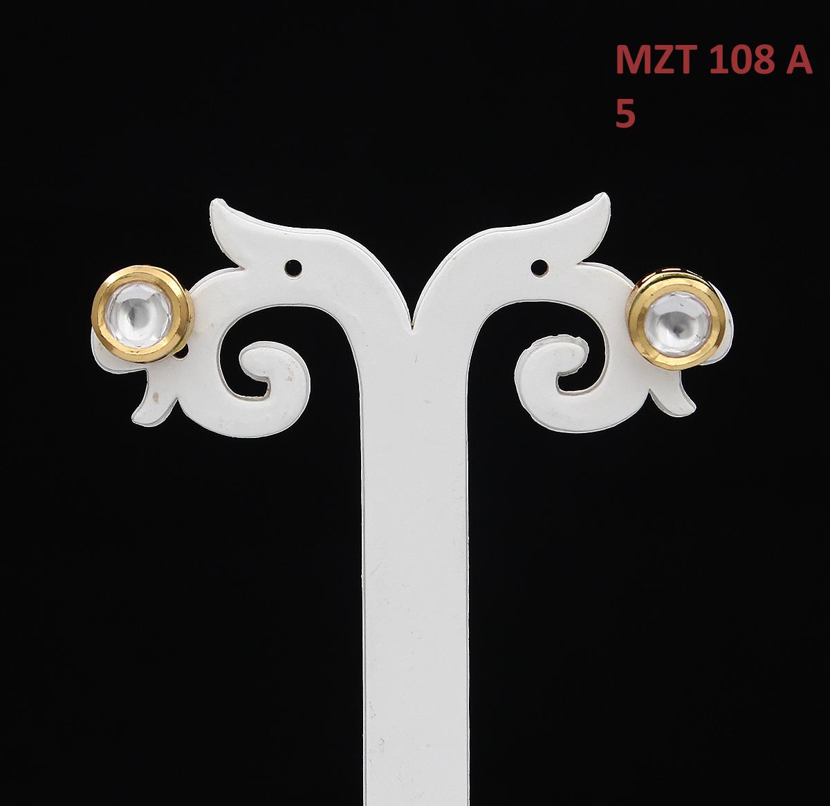 55Carat   55Carat Classic Stud Earrings Gold Plated Round Shape Kundan Stone Handcrafted Designer Fashion Jewellery for Women Girls