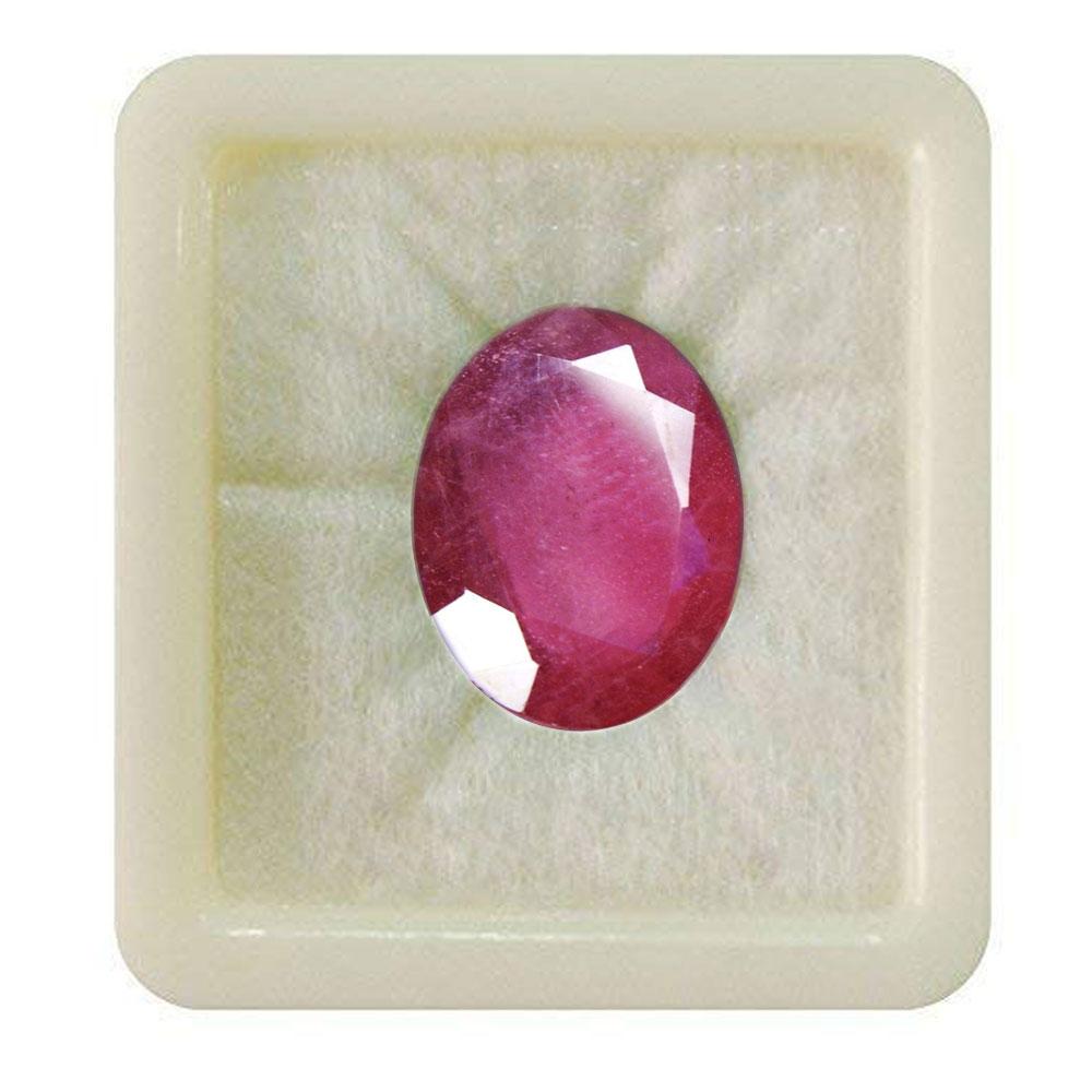 55Carat   Genuine Certified Ruby Gemstones 6.25 Ratti 5.68 Carat Manik Oval Shape For Jewelry Making
