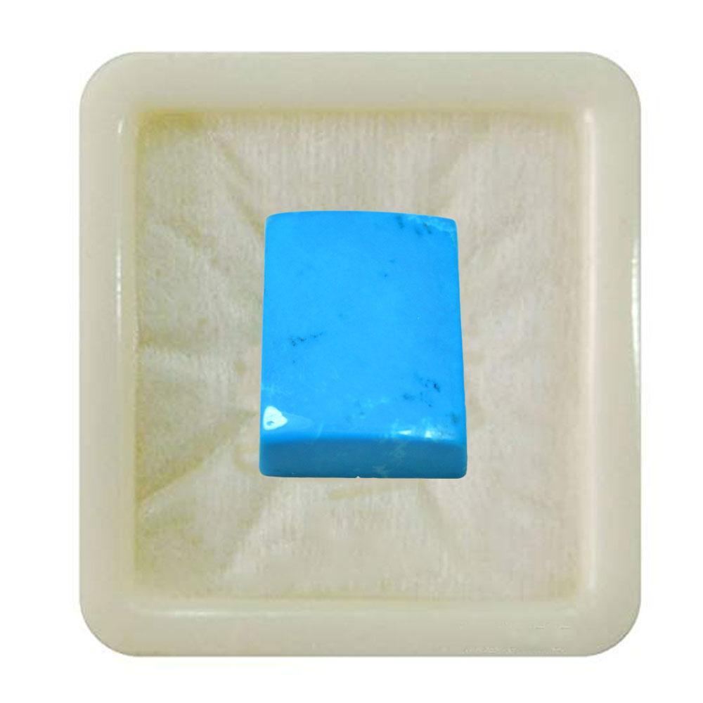 55Carat   Natural Turquoise 6.25 Ratti 5.68 Carat Firoza Rectangle Cabochon Flatback Loose Stones