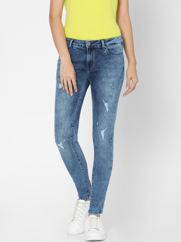Spykar | Spykar Black Cotton Women Jeans (Adora)