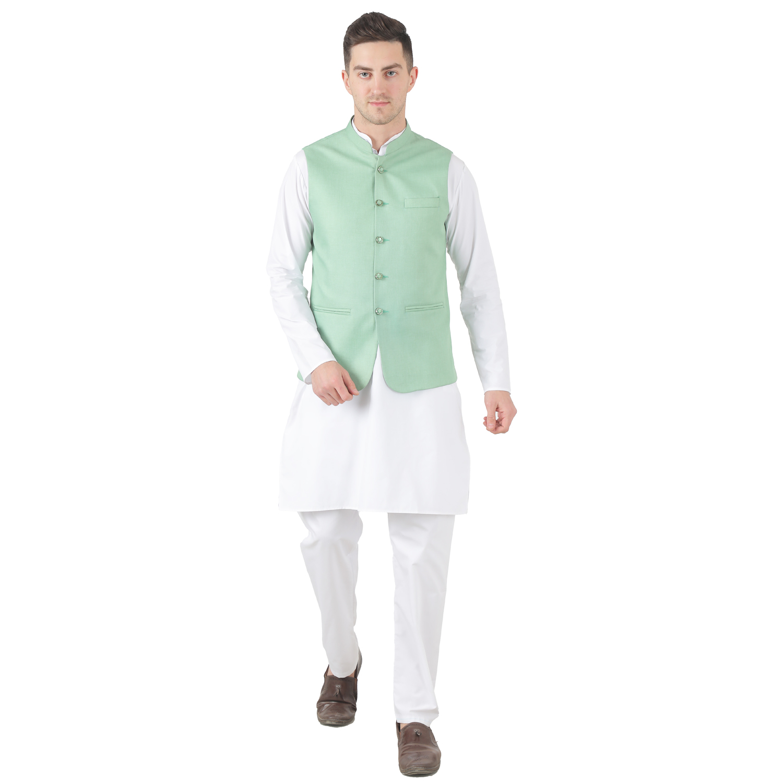 TAHVO | Tahvo Men 5 Button Nehru Jacket Kurta Set