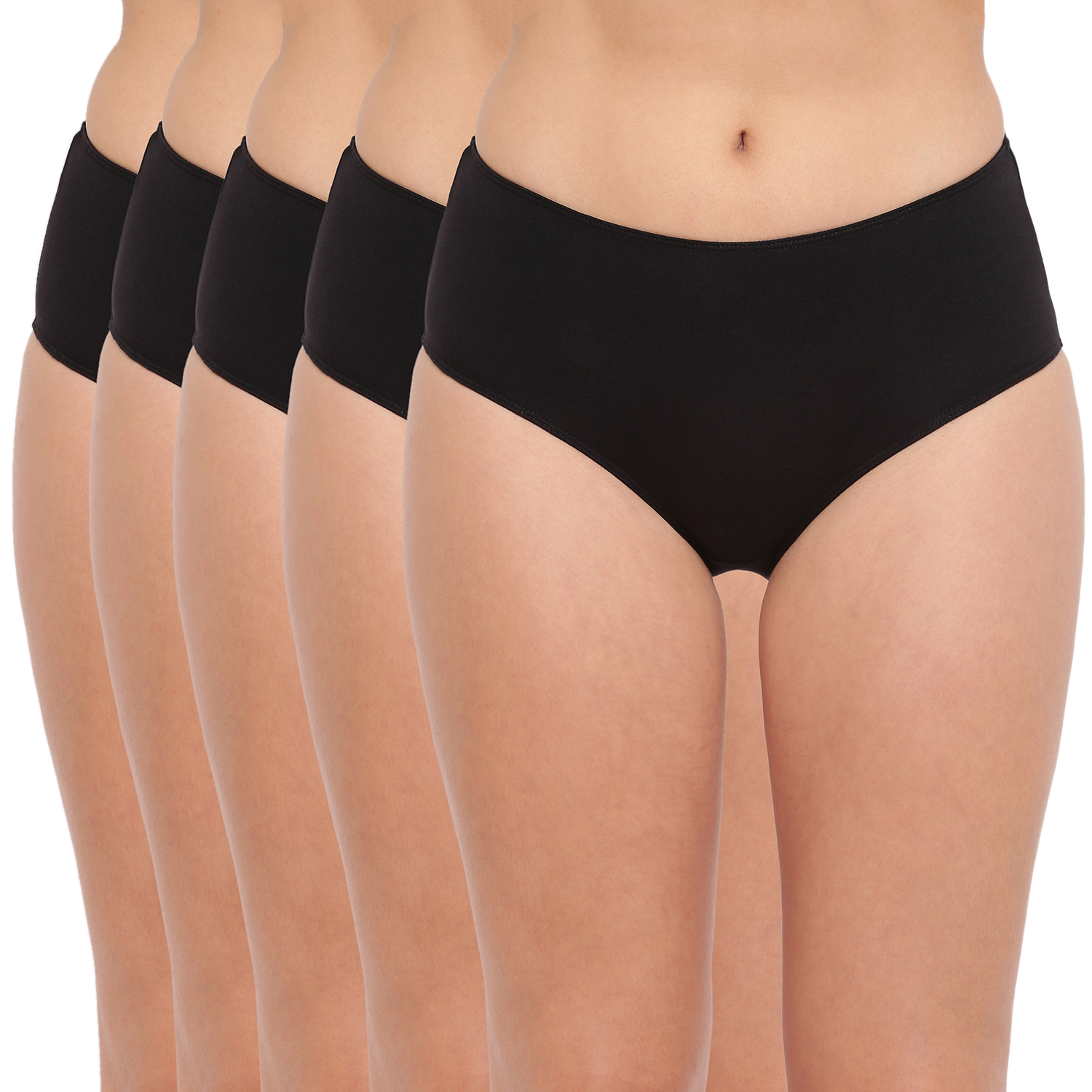 BASIICS by La Intimo   Tease 2 Please Hipster/ Full Brief Black (Pack of 5)