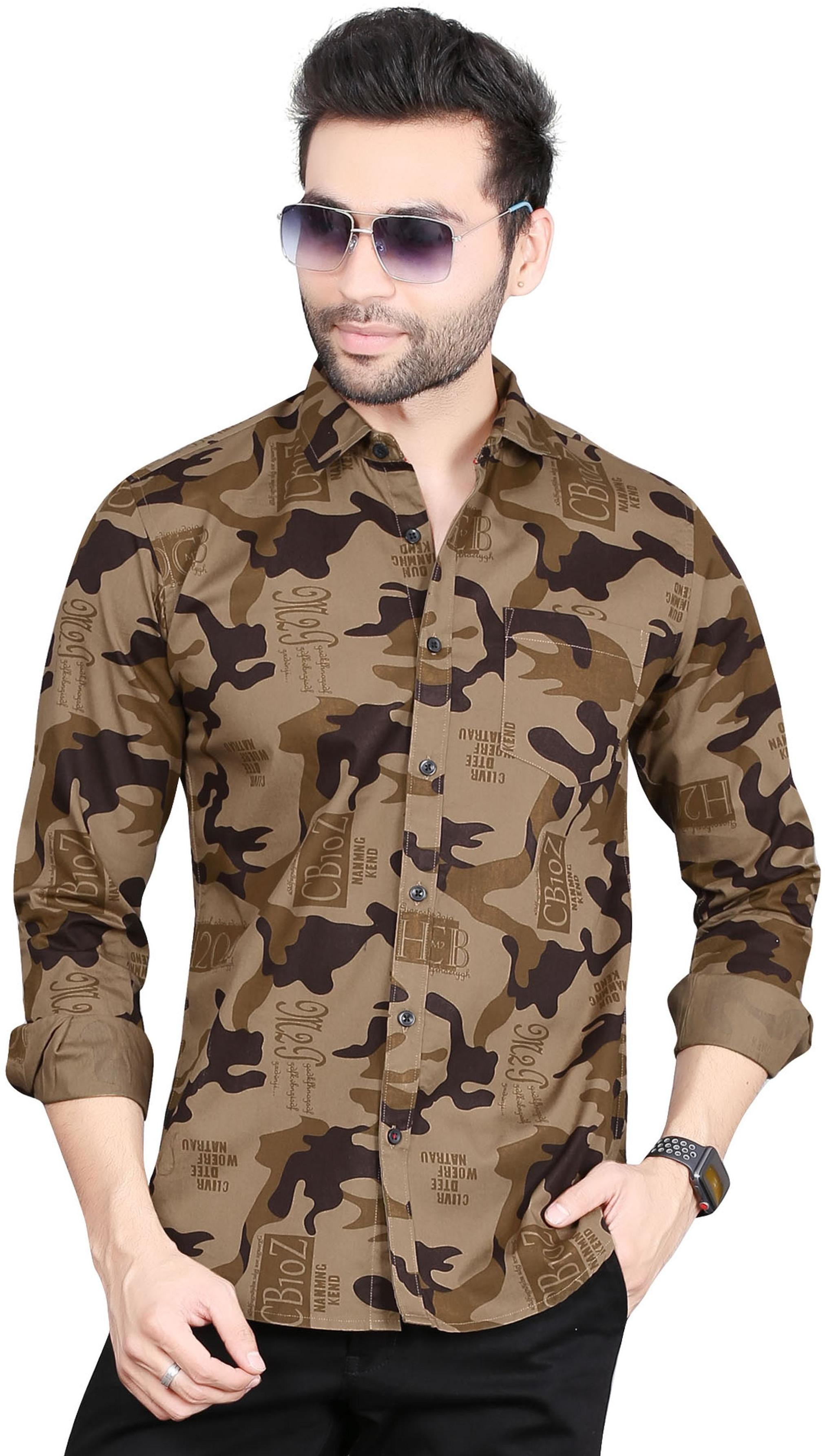 5th Anfold   Camofleg Printed Cotton Shirt by Fifth Anfold