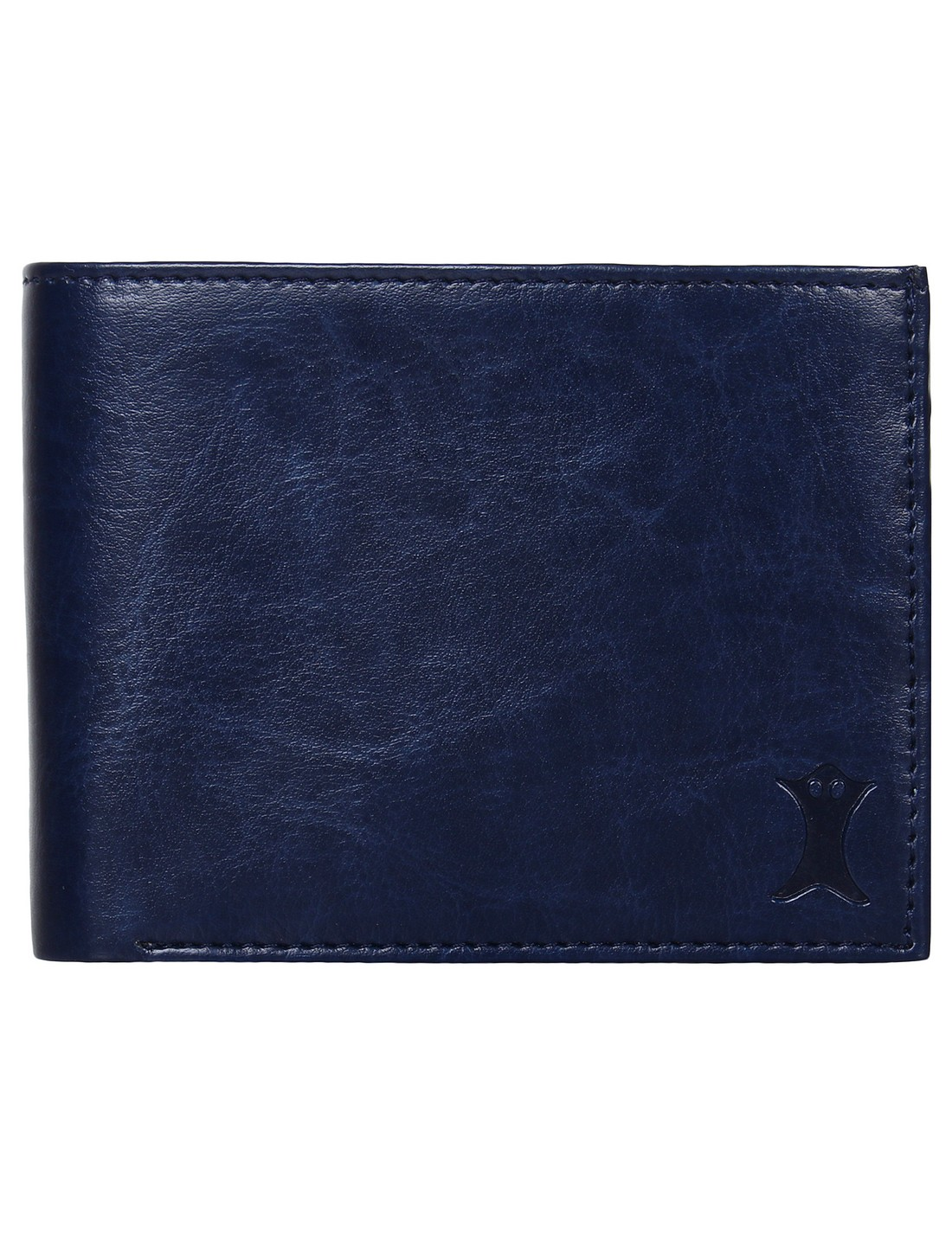 CREATURE | CREATURE Bi-Fold Blue PU Leather Wallet with Multiple Card Slots for Men