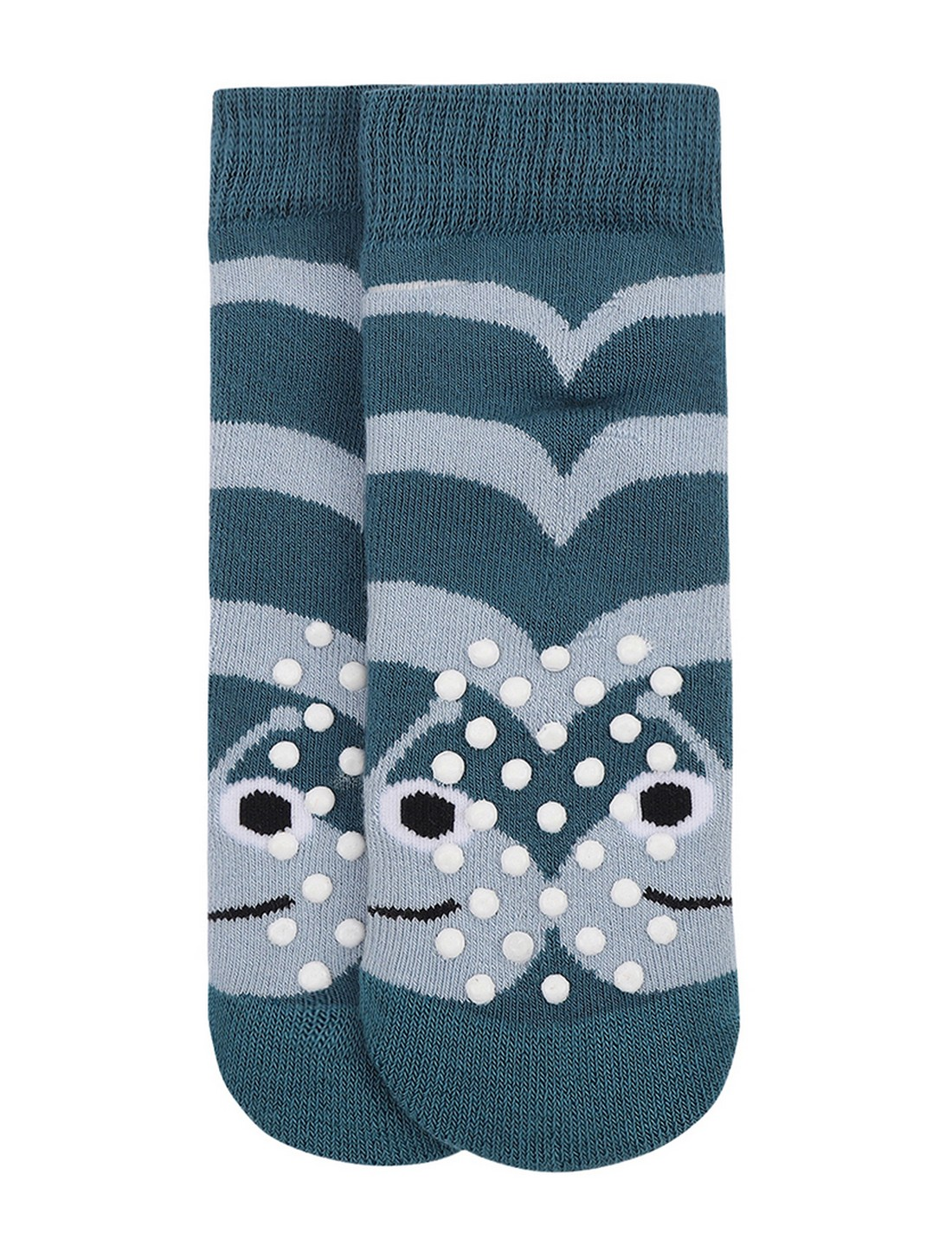 Soxytoes | Soxytoes Caterpillar Cotton Crew Length Blue Kids Socks-Age (0-2 Years)