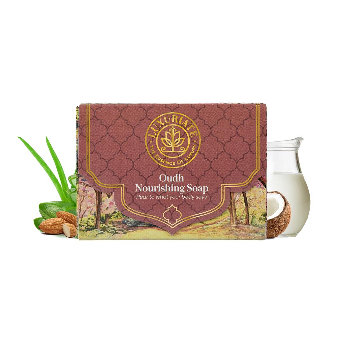 LUXURIATE | LUXURIATE Naturally Oudh Nourashing Winter Soap for Men and Women,125 Gm