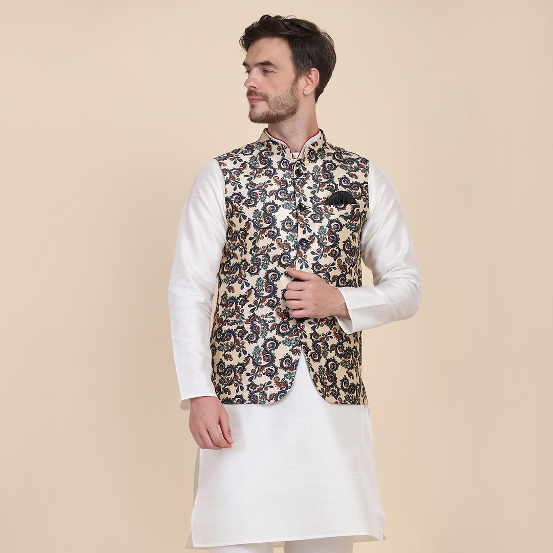 TAHVO | TAHVO men printed Nehru Jacket