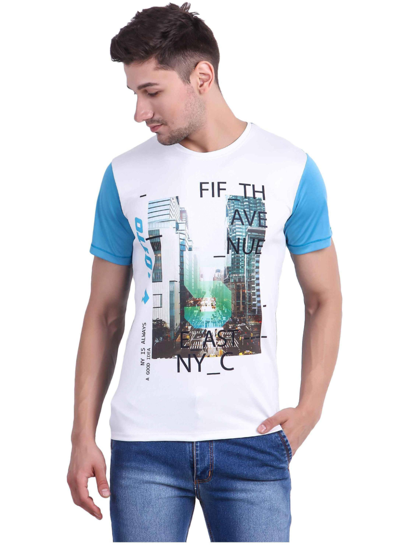 Lotto | Lotto Men's T-Shirt Platinum White/Turq Tee