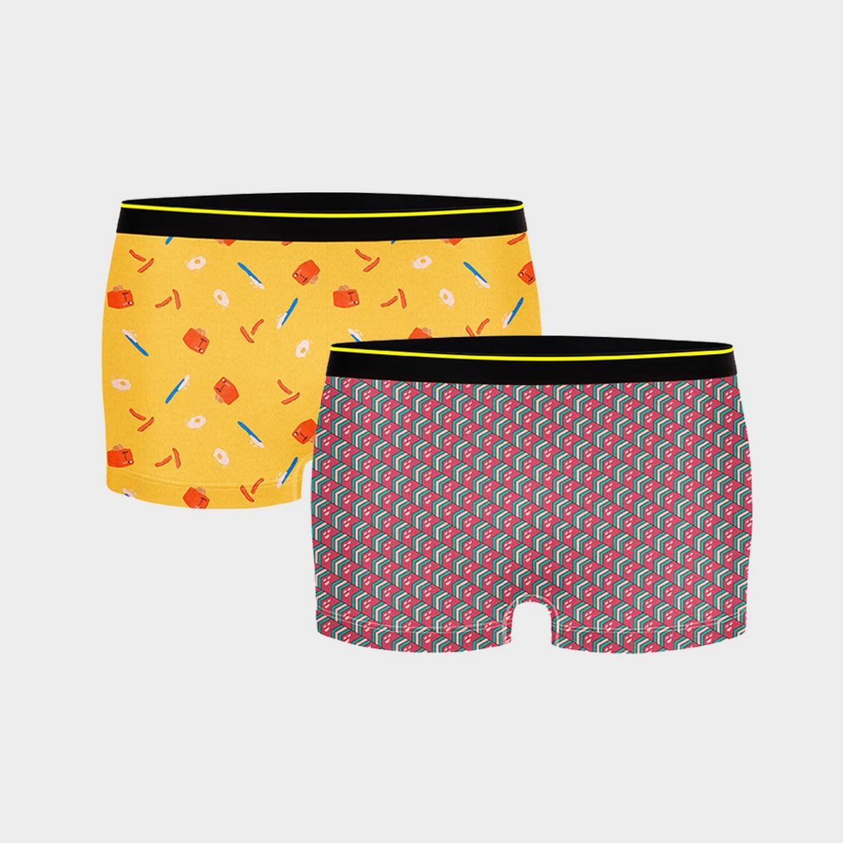 Bummer | Bummer Mindsweeper + Brekkie Micro Modal Boy Short-Pack of 2 For Women