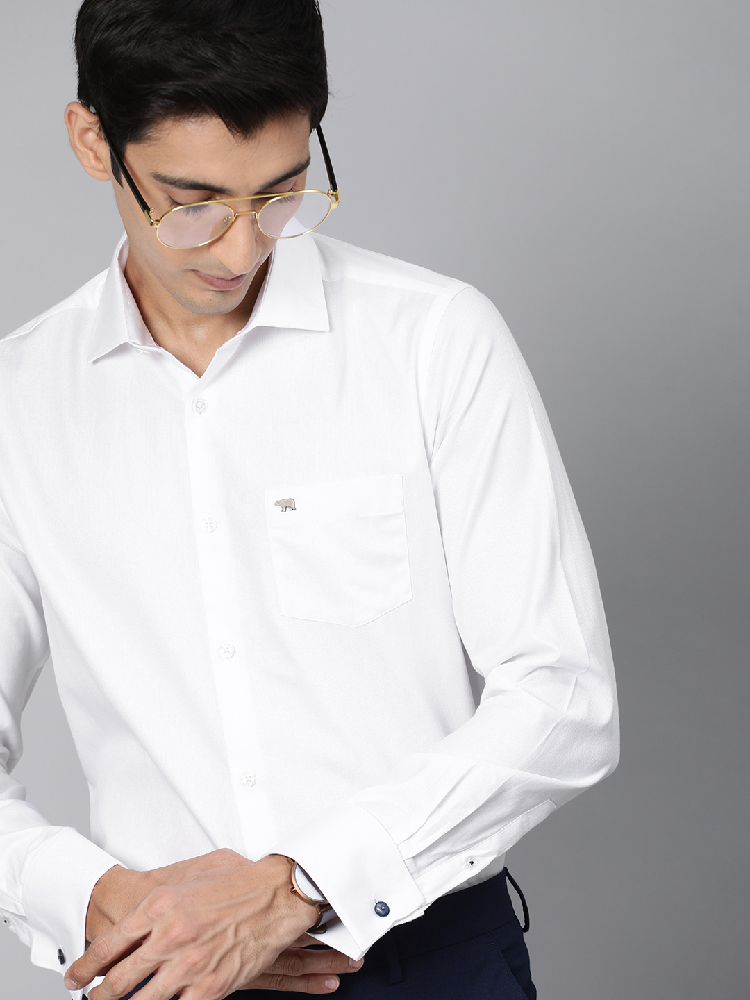 The Bear House | Men's French-Cuff Formal Shirt