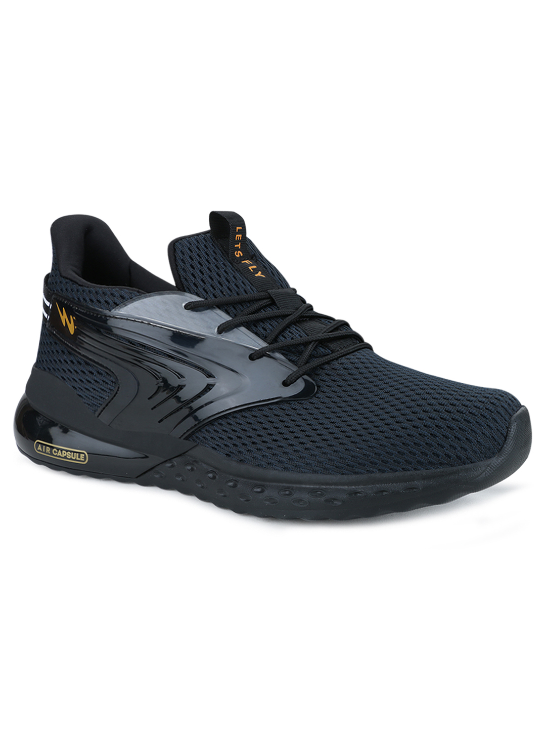 Campus Shoes | Black Morocco Running Shoes
