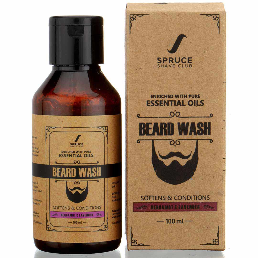 Spruce Shave Club | Spruce Shave Club Natural Beard Wash |Sulfate & Paraben Free | Bergamot & Lavender