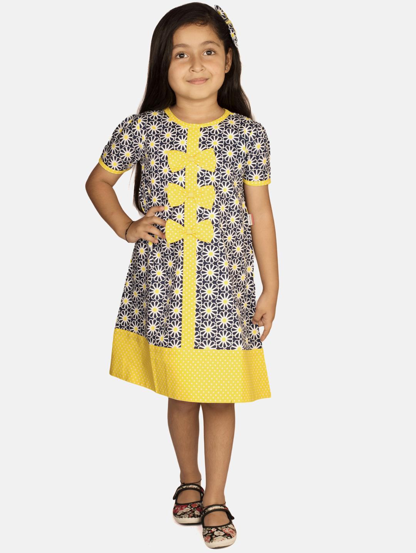 Ribbon Candy   RIBBON CANDY Girl's Mango Crumble Short Sleeve Shift Dress