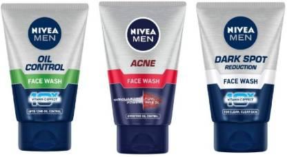 Nivea | NIVEA Men Oil Control, Acne, Dark Spot Reduction  Face Wash (Pack of 3)