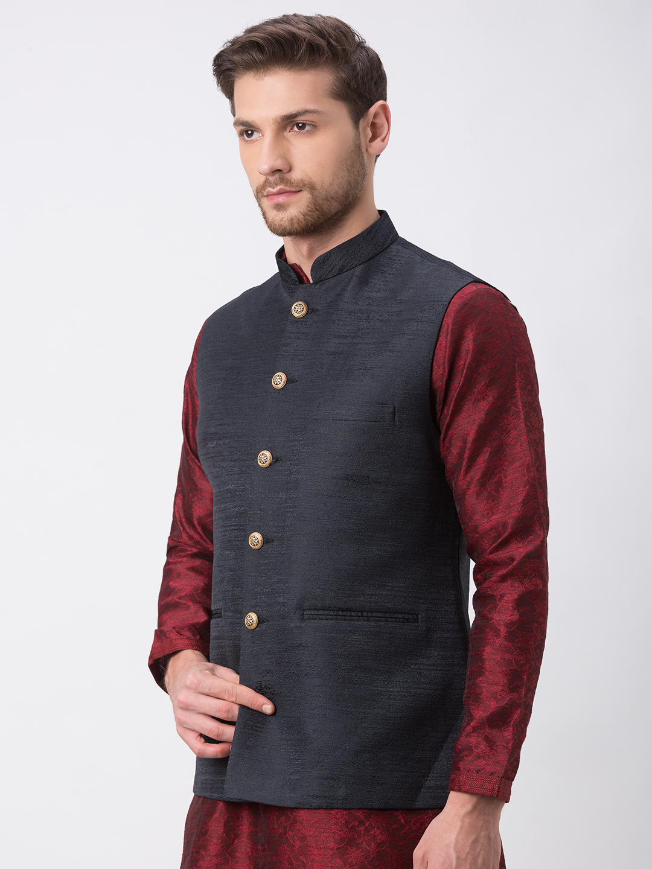 Ethnicity | Ethnicity Full Sleeve Polyester Blend Black Men Jackets