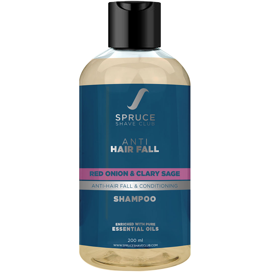 Spruce Shave Club | Spruce Shave Club Natual Anti Hair Fall Shampoo For Men | Red Onion & Clary Sage | Sulfate & Paraben Free