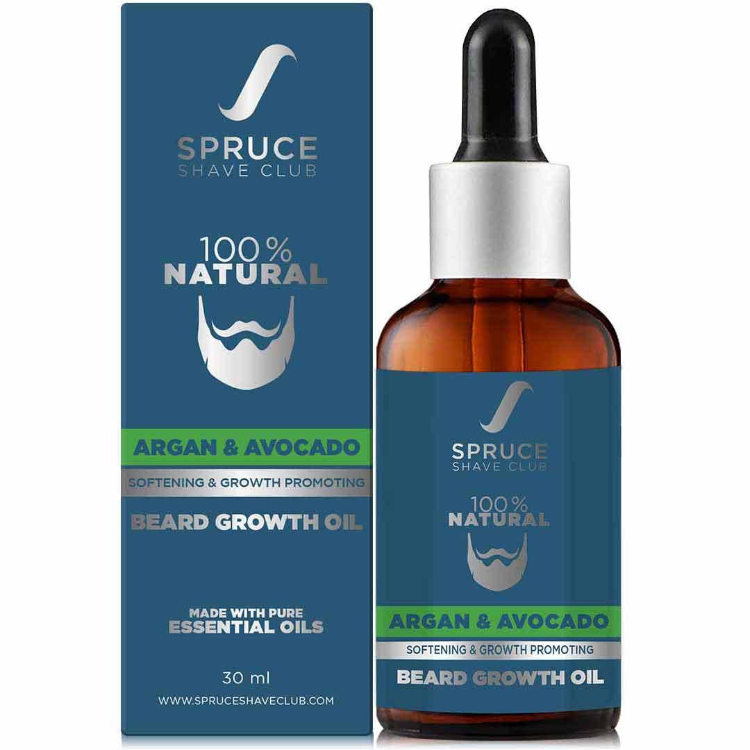 Spruce Shave Club | Spruce Shave Club Advanced Beard Growth Oil For Men | 100% Natural | Argan & Avocado