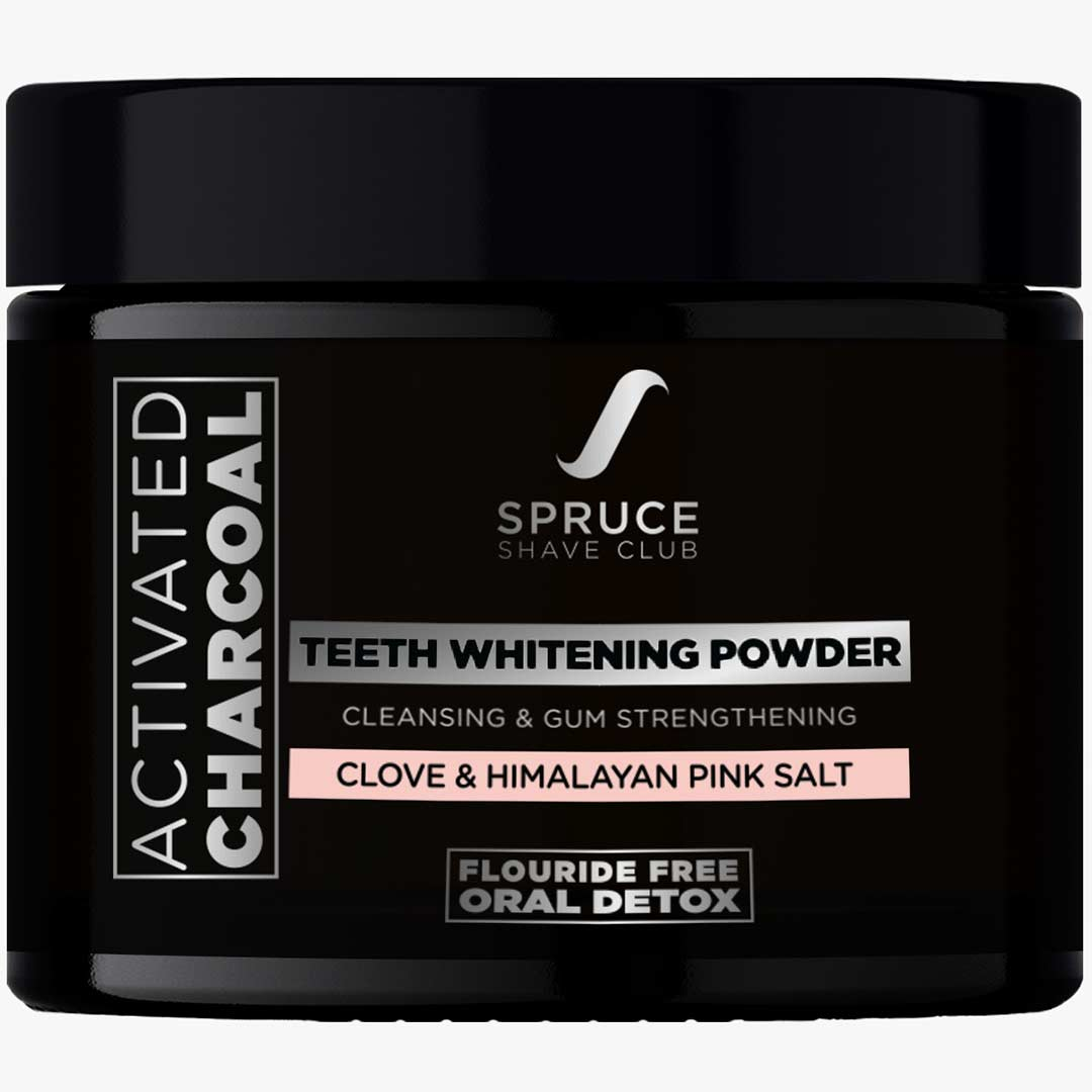 Spruce Shave Club   Spruce Shave Club Charcoal Teeth Whitening Powder with Clove & Himalayan Pink Salt