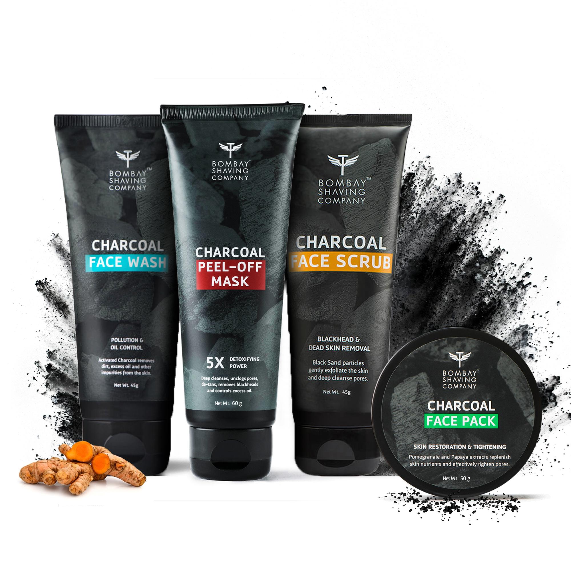 Bombay Shaving Company |  Charcoal Facial Starter Kit, Black, 200 g