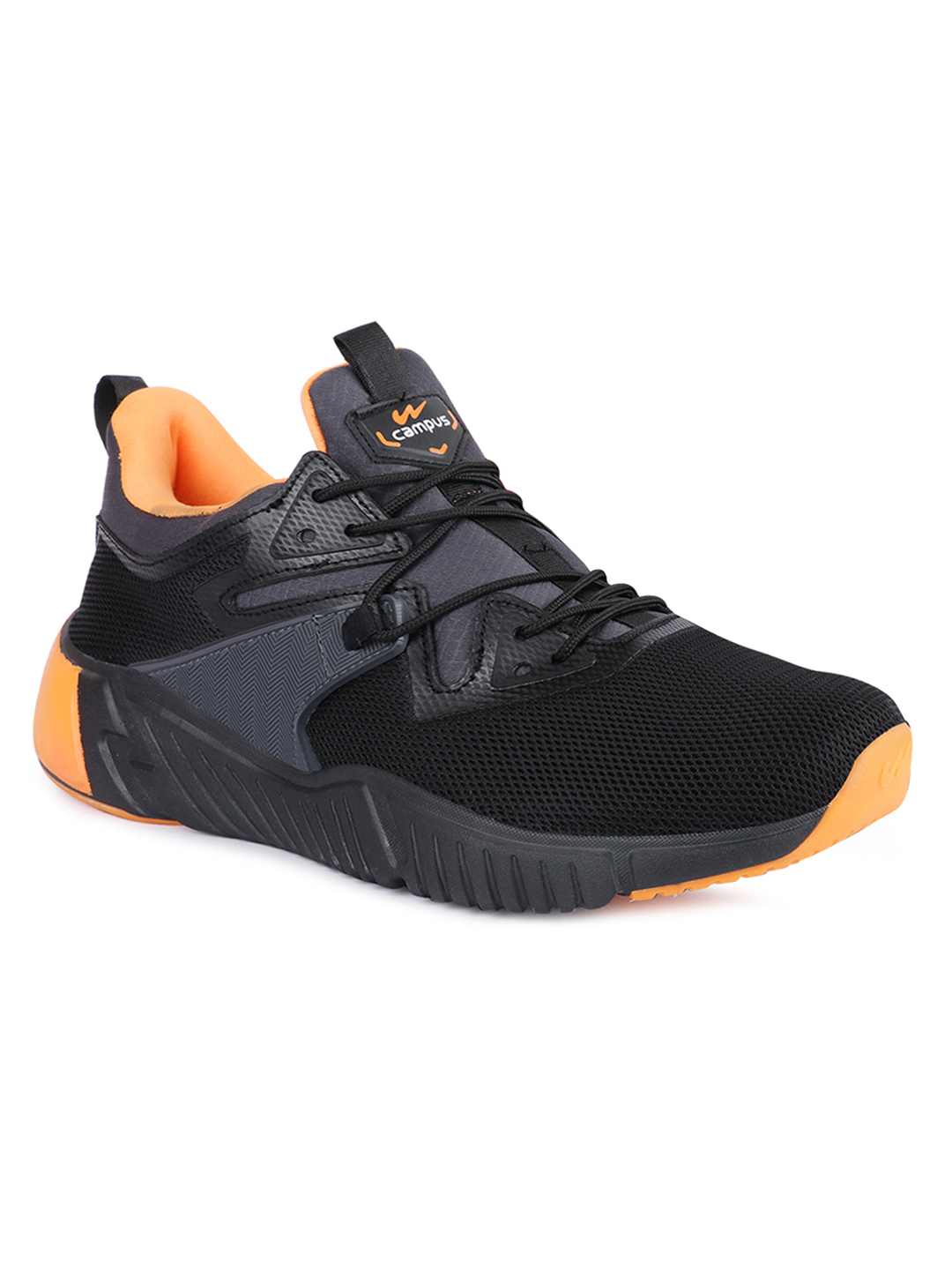 Campus Shoes | Black Tez Running Shoes