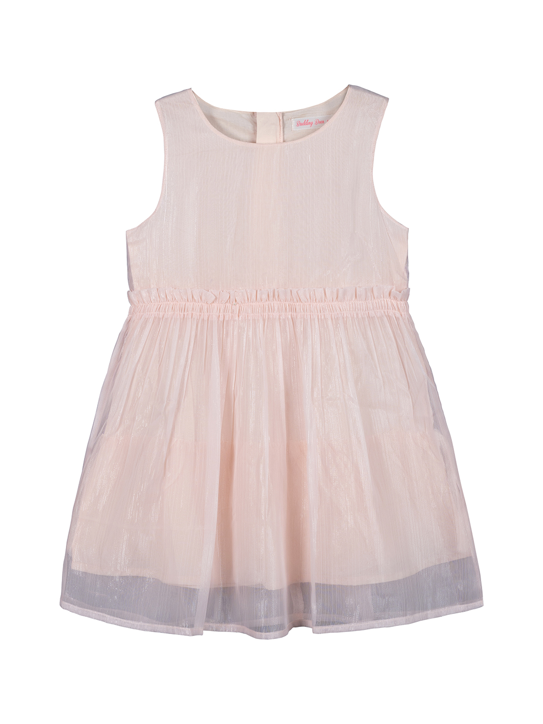 Budding Bees | Budding Bees Girls Solid  Party Dress-Pink
