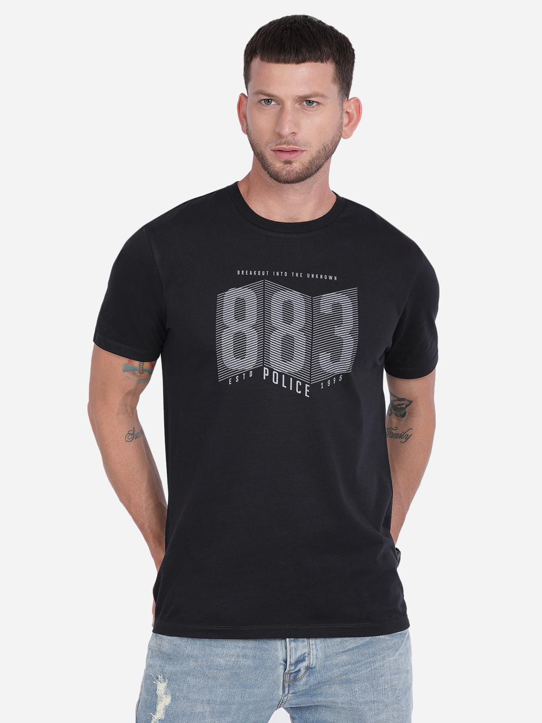 883 Police | 883 Police Tonewite India T-shirt