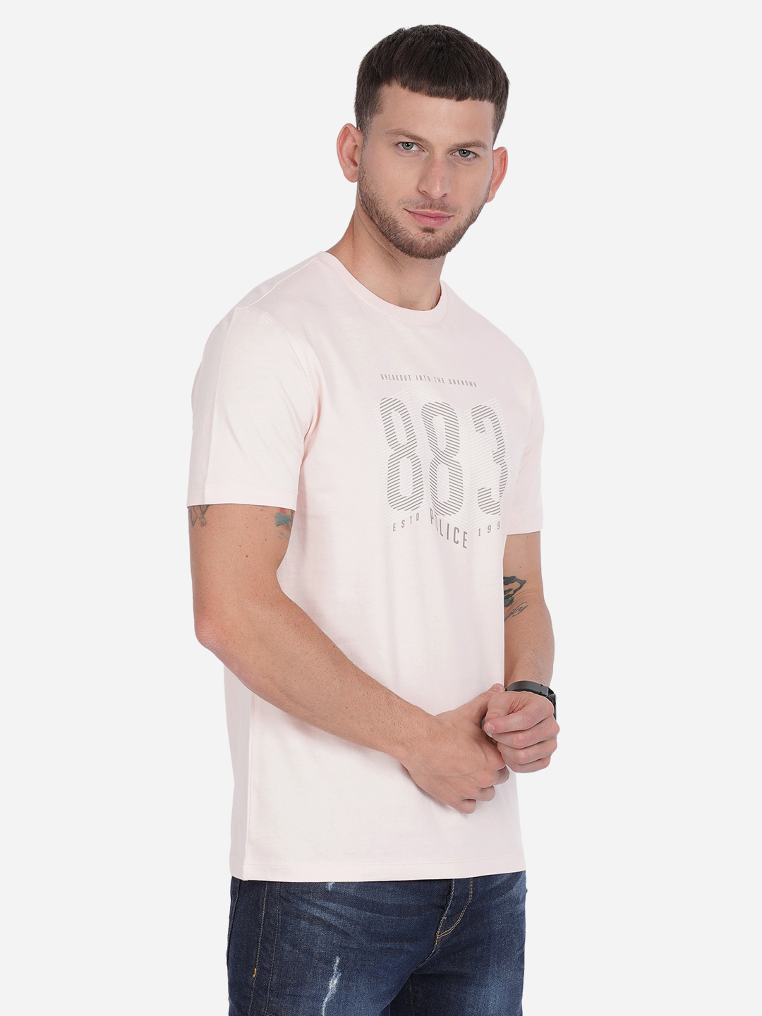883 Police   883 Police Tonewite India T-shirt