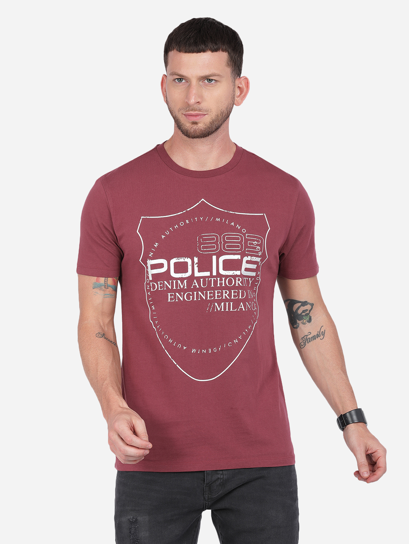 883 Police   883 Police Typo shield T-shirt