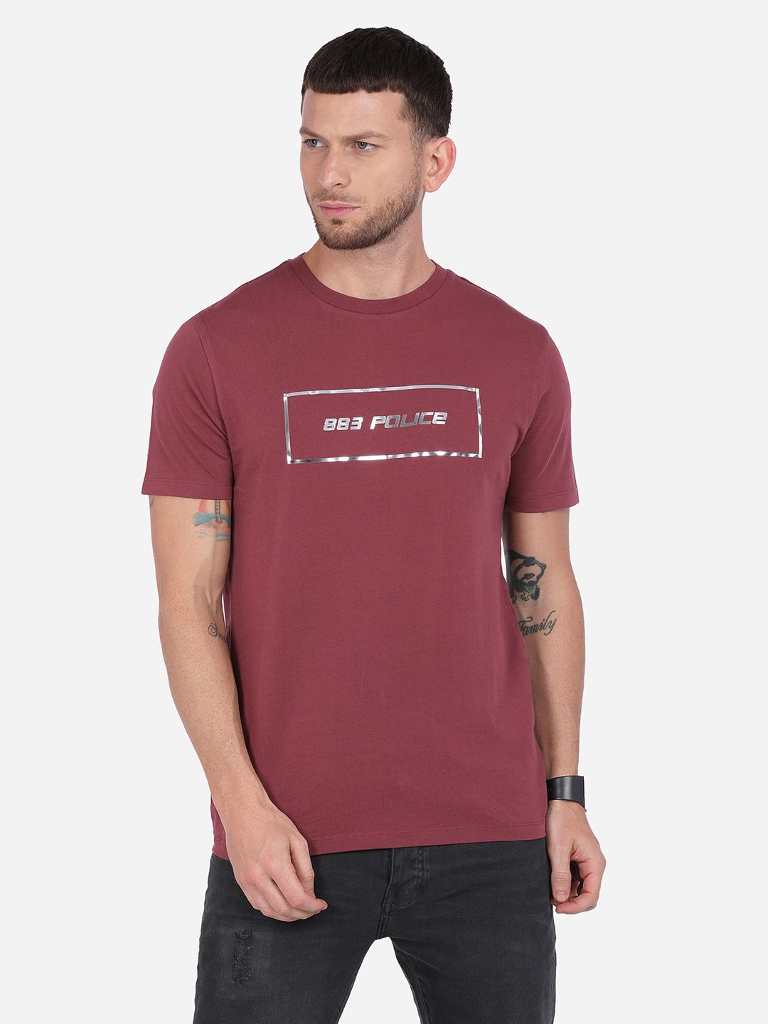 883 Police   883 Police Silvery T-shirt