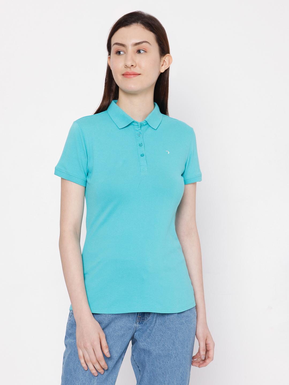 Spykar | spykar Blue Solid Regular Fit T-Shirt
