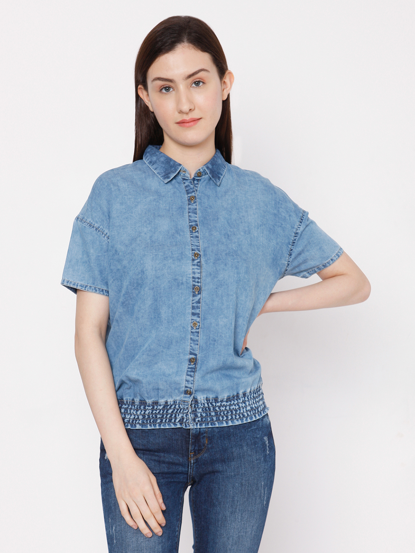 Spykar | Spykar Cotton Blue T-Shirts