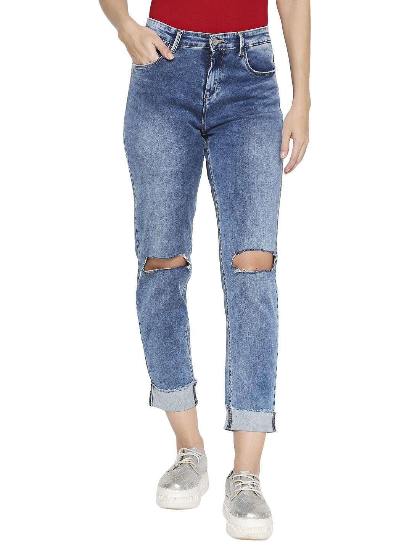 Spykar | Spykar Blue Cotton Low Rise Skinny Fit Jeans (Skinny)