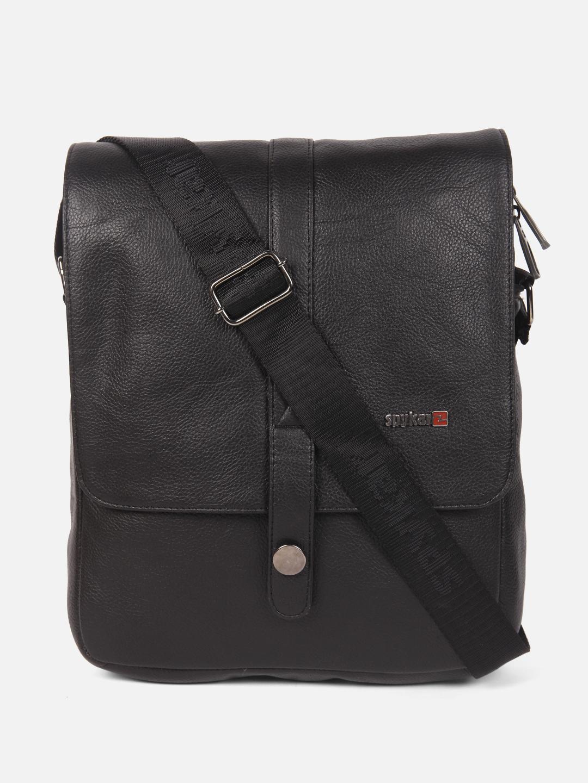 Spykar | Spykar Black Messenger Bag
