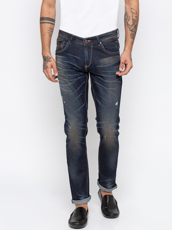 Spykar | Spykar Dark Blue Ripped Skinny Fit Jeans