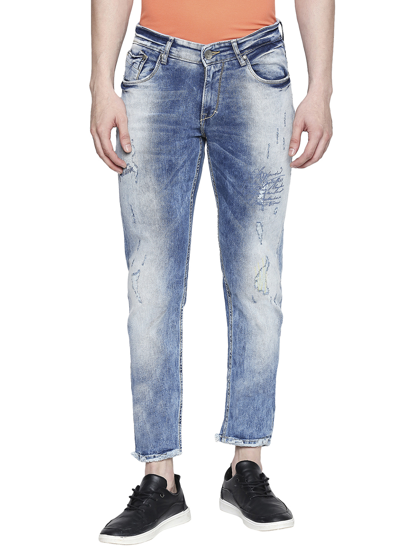 Spykar | Spykar Blue Cotton Super Skinny Fit Jeans (Super Skinny)