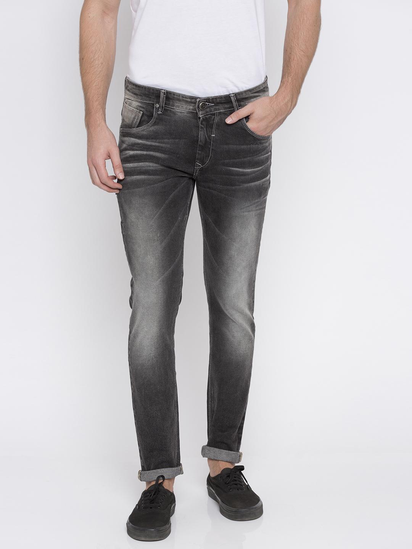 Spykar   Spykar Carbon Black Solid Skinny Fit Jeans