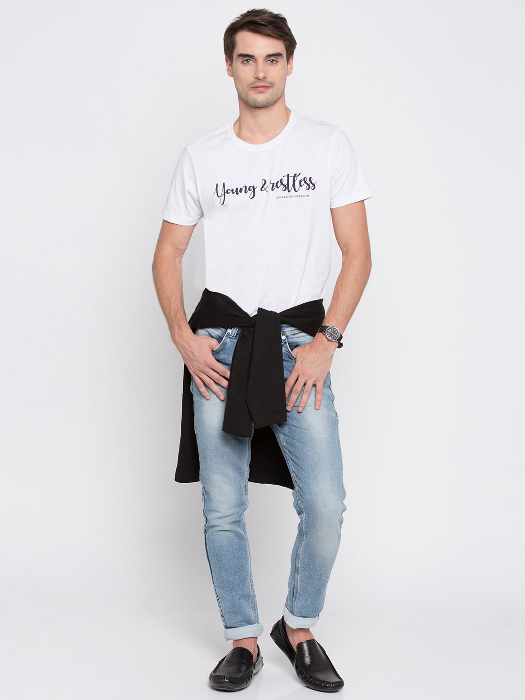 Spykar   Spykar Light Blue Solid Super Skinny Fit Jeans