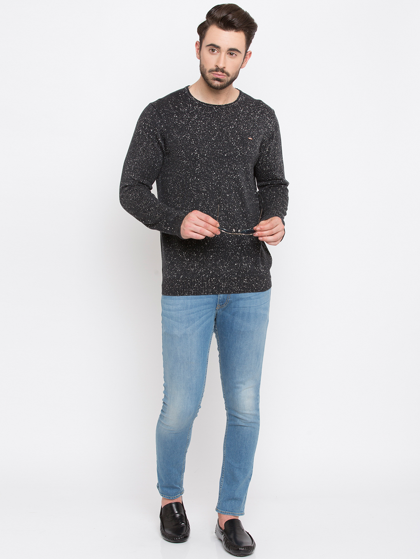 Spykar | spykar Black Printed Slim Fit Sweatshirt