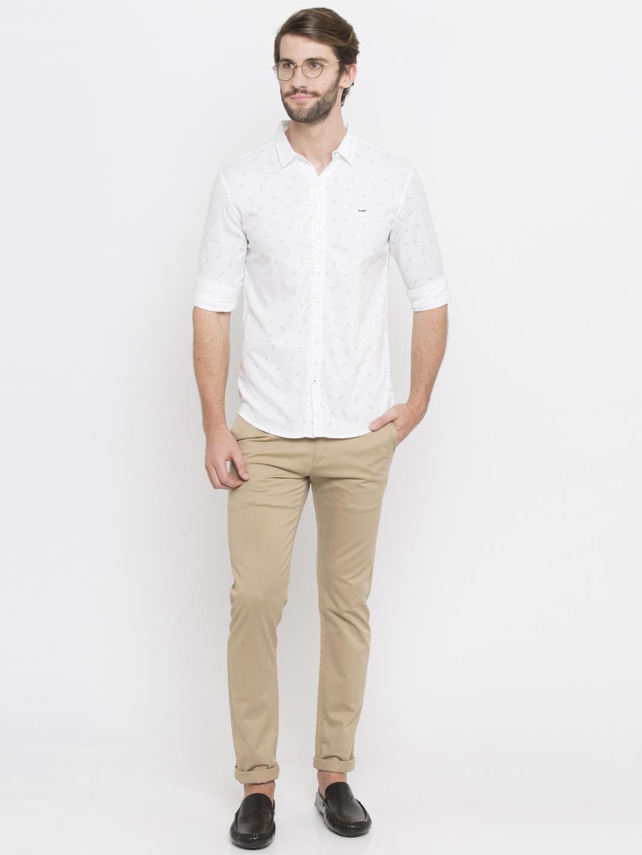 Spykar | spykar White Cotton Casual Shirt
