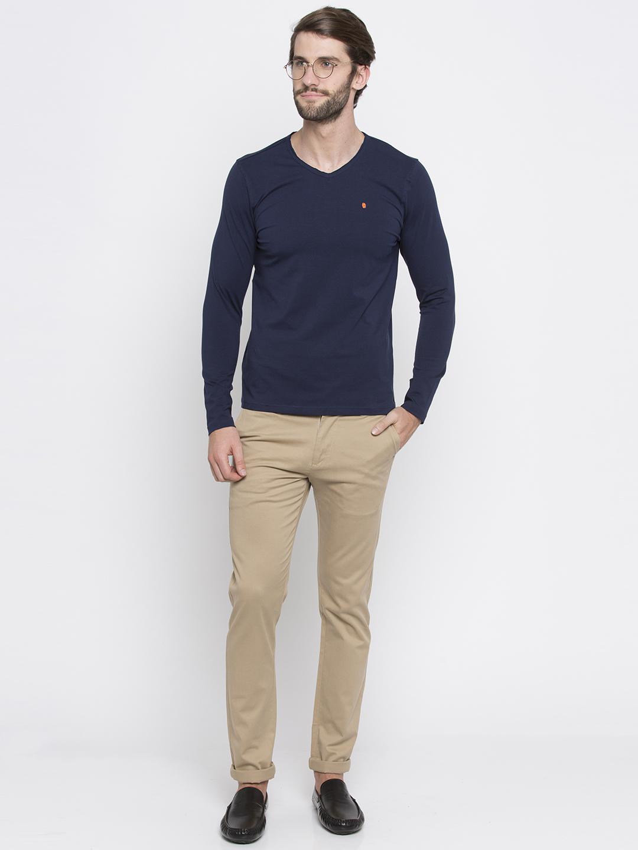 Spykar | spykar Blue Solid Slim Fit T-Shirt