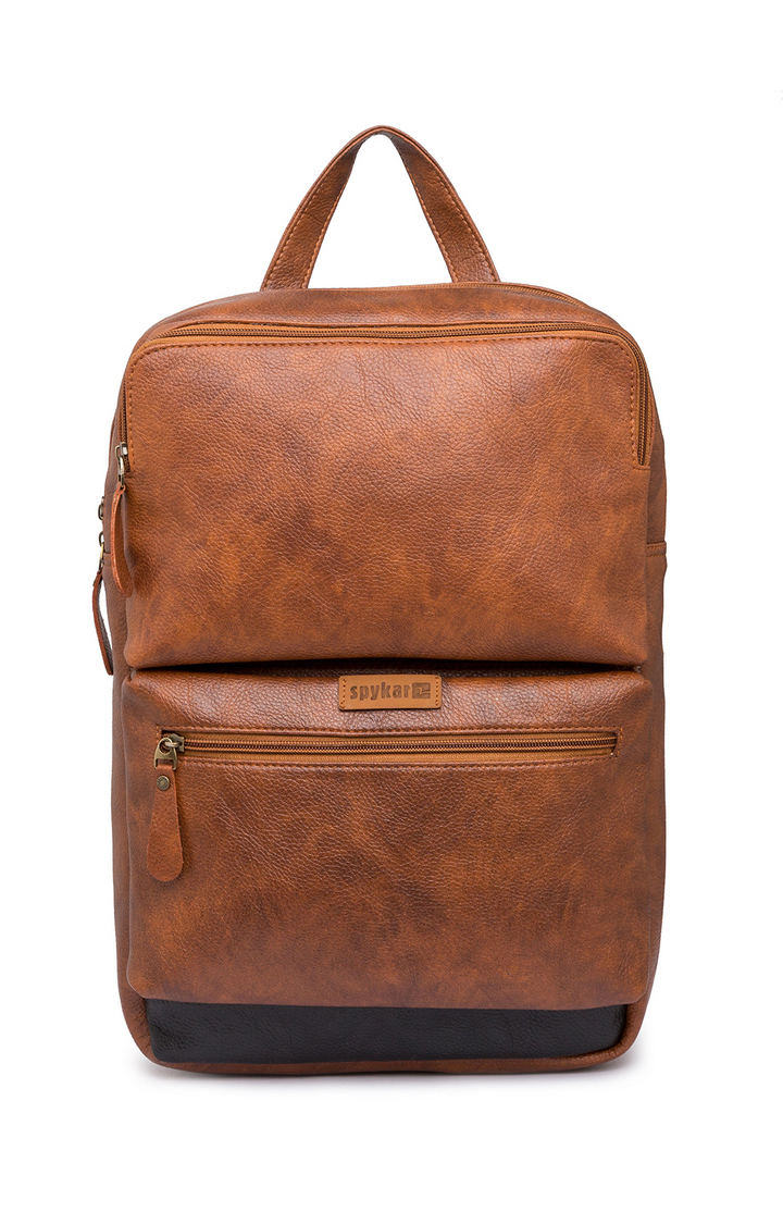 Spykar   Spykar Tan Polyester Backpack