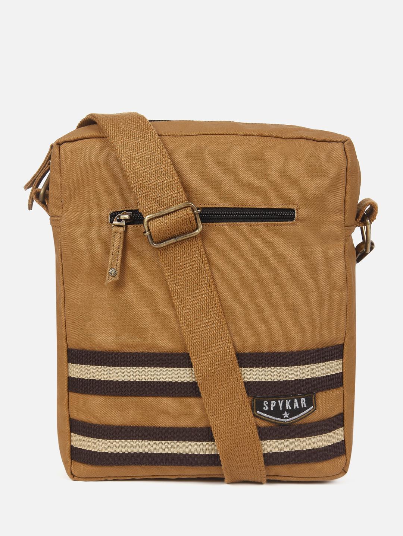 Spykar | Spykar Light Brown Canvas Messenger Bag