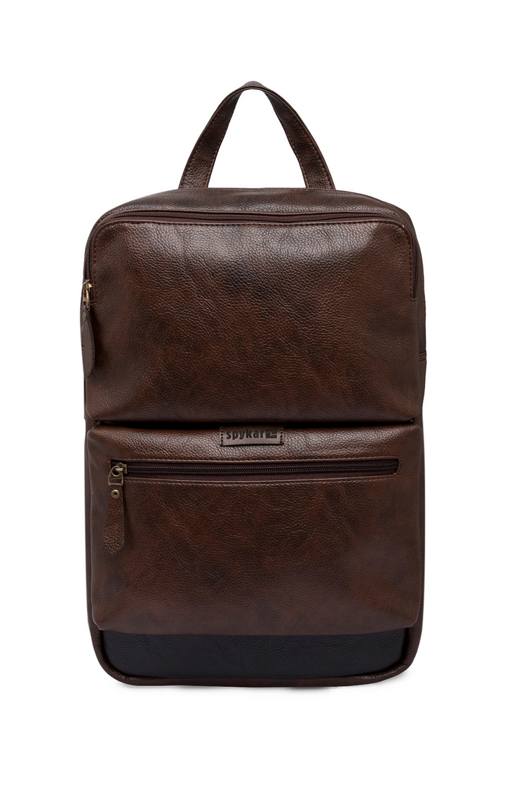 Spykar   Spykar Brown Polyester Backpack