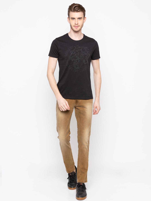 Spykar   Spykar Khaki Solid Skinny Fit Jeans