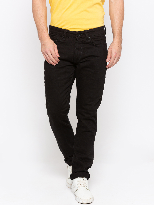 Spykar | Spykar Black Solid Slim Thigh Narrow Leg Fit Jeans