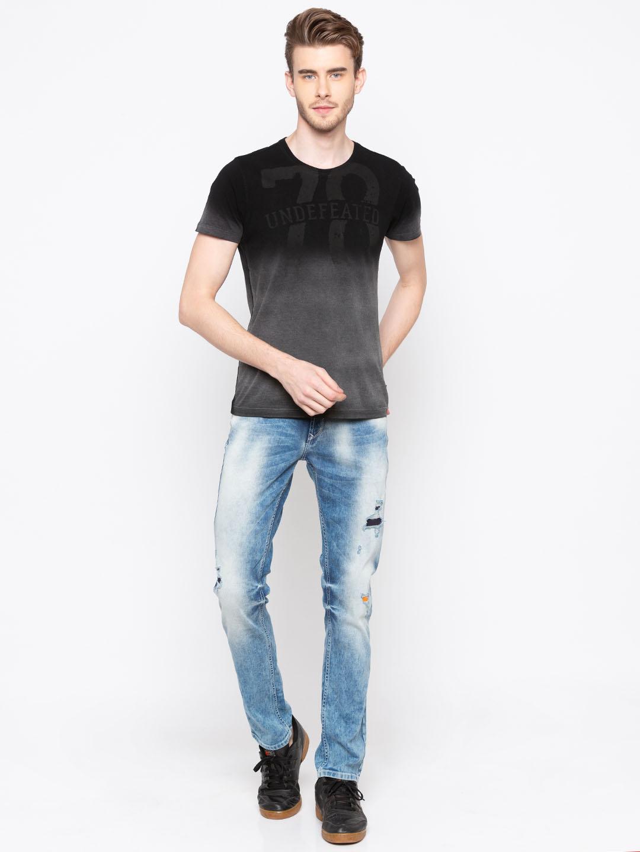 Spykar | Spykar Light Blue Ripped Skinny Fit Jeans
