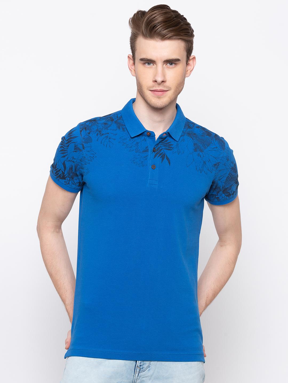 Spykar   spykar Blue Cotton T-Shirt