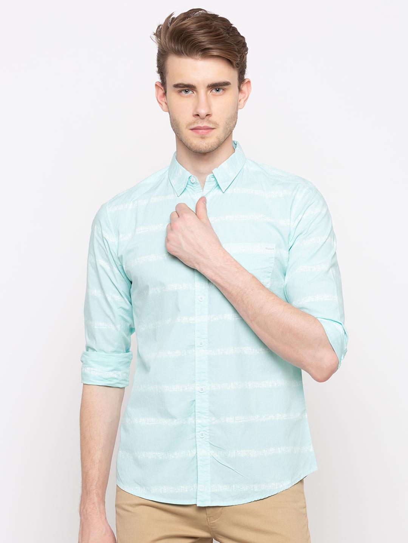 Spykar | spykar Blue Cotton Shirt