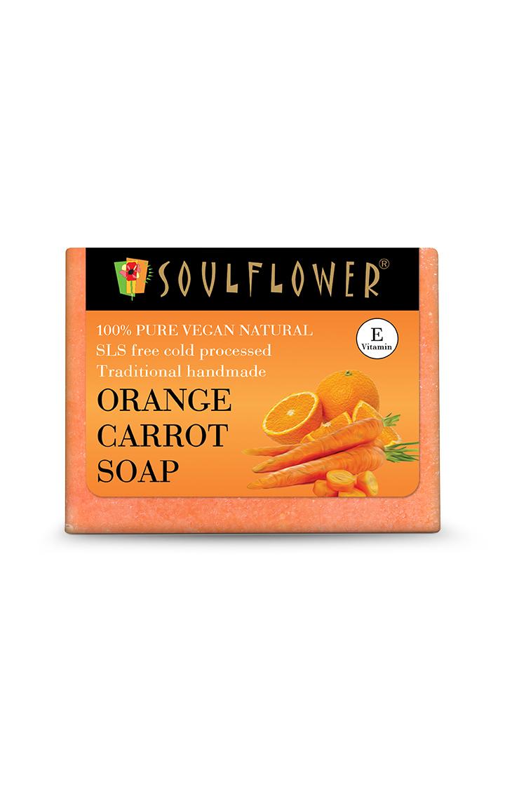 Soulflower   Orange Carrot Soap - 150gm